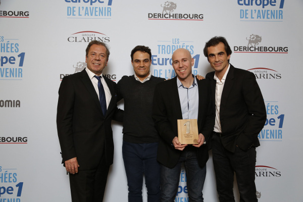 "The award Trophée Europe 1 in the category ""Education of Tomorrow"" given to Domoscio"